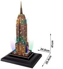 3D Παζλ Empire State Building LED - Cubic Fun - 38 Κομμάτια