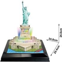3D Παζλ Statue of Liberty LED - Cubic Fun - 37 Κομμάτια