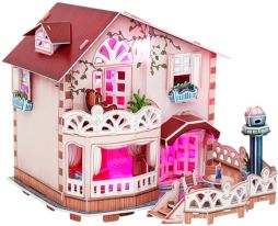 3D Παζλ Holiday Bungalow Dollhouse LED - Cubic Fun - 114 Κομμάτια