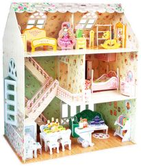 3D Παζλ Dreamy Dollhouse - Cubic Fun - 160 Κομμάτια