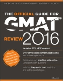 OFFICIAL GUIDE FOR GMAT REVIEW 2016